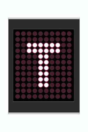 LED Display shows alphabet letter Stock Photo - 10283632