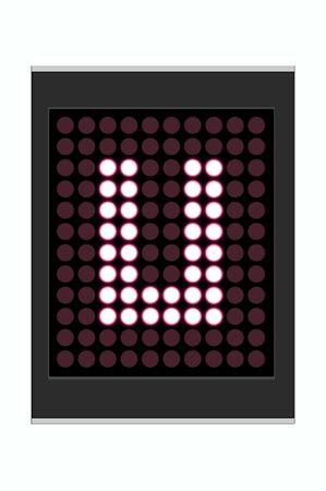 LED Display shows alphabet letter Stock Photo - 10283642