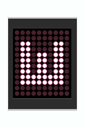 LED Display shows alphabet letter Stock Photo - 10283683