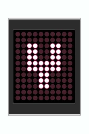 LED Display shows alphabet letter Stock Photo - 10283635