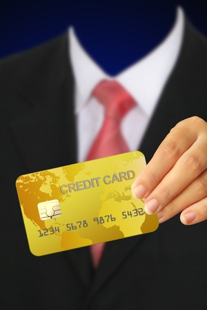 Credit card in human hand Stock Photo - 10300477