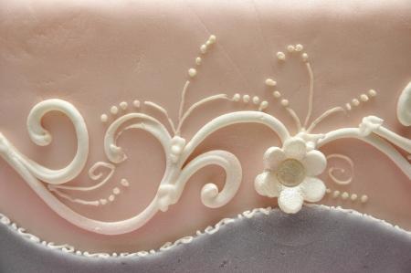 Décoration de gâteaux de fleurs Banque d'images