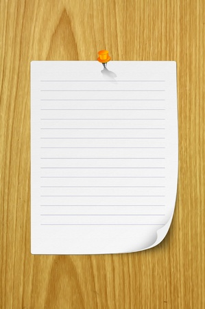 Blank note paper Stock Photo - 10498747