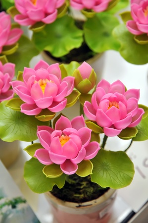 Beautiful bouquet of artificial lotus flowers Stock Photo - 10606418