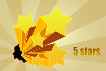 Five stars ratings Stock Photo - 10814576