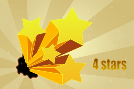 Five stars ratings Stock Photo - 10814575