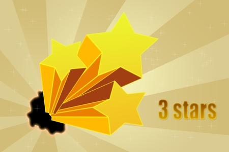 Five stars ratings Stock Photo - 10814574