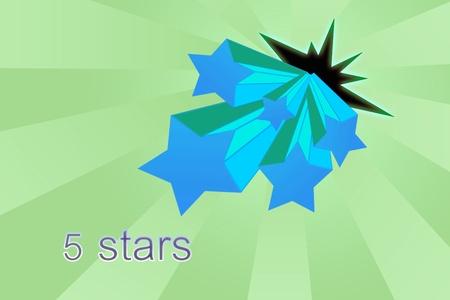 votaciones: Cinco estrellas clasificaciones Foto de archivo