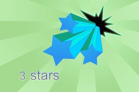 Five stars ratings Stock Photo - 11229023