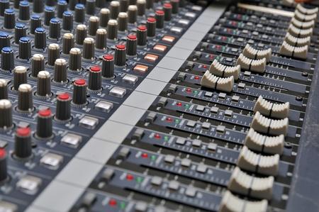 Partie d'un mélangeur sonore audio