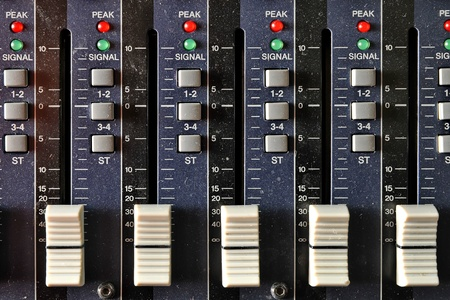 audio mixer: Part of an audio sound mixer