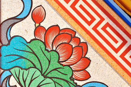 Art Chinese style painting of lotus flower