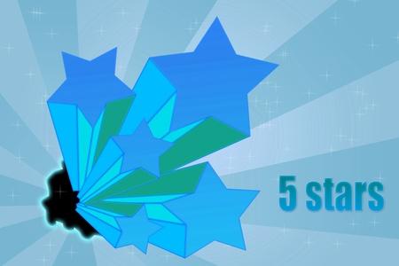votaciones: Cinco estrellas calificaciones de fondo din�mico