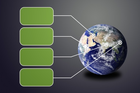 Flying transparent button with earth globe Stock Photo - 13044034