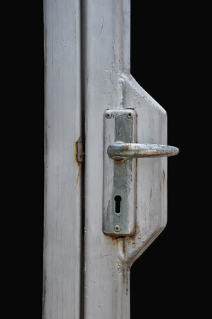 Door handle isolated on black background  photo