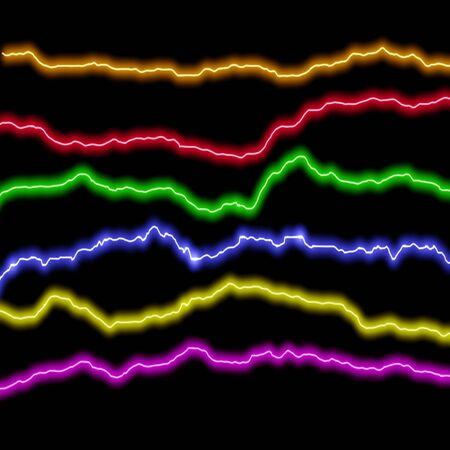 Multicolored abstract lightning Stock Photo