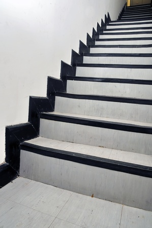 Modern white stair photo