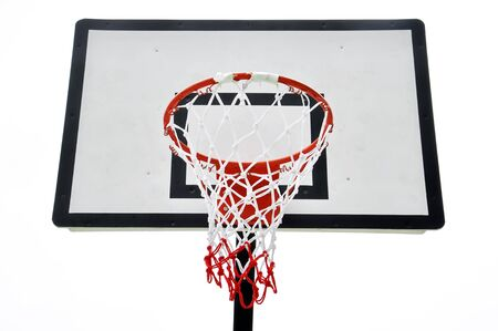 Basketball board on white background photo
