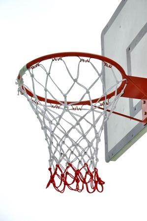 basket ball: Basketball board on white background