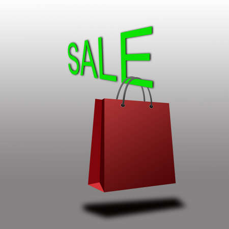 Paper shopping bag with Sale photo