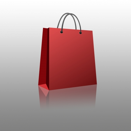 white paper bag: Shopping bag