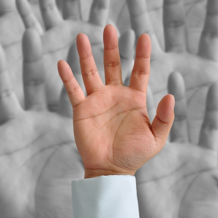 Group of Businessman hands photo