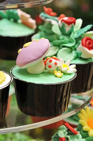 Colorful Cup Cake  Sweet snacks photo