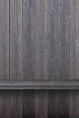 Empty wood shelf on wood wall Stock Photo - 15238978