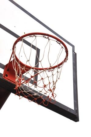 basketball net: Basketball board on white background