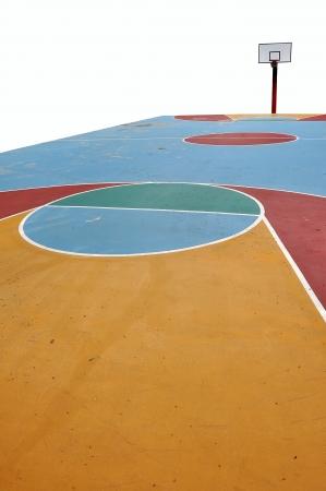 Basketball court on the white background Stock Photo