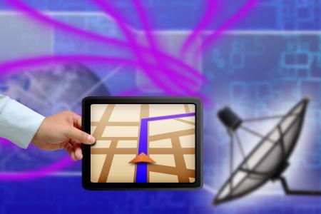 Gps Touchpad avec Satellite données de transmission plat