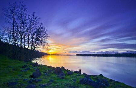 Sunset Tracing Stok Fotoğraf