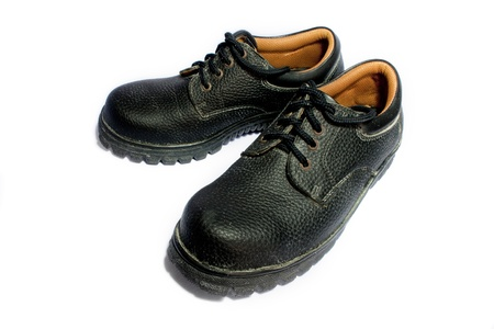safety shoes: Old safety shoes
