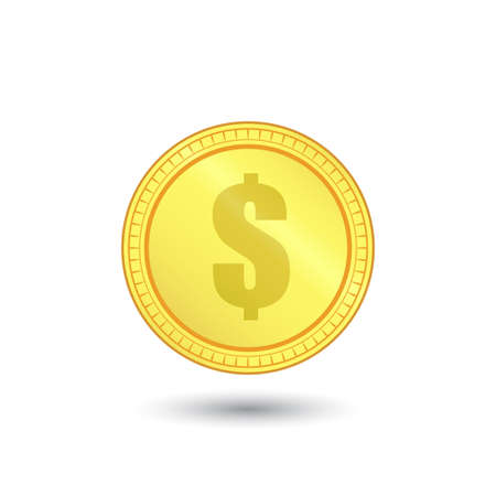 Falling gold coins with dollar sign. Money rain, Jackpot ,Good luck and Success Concept