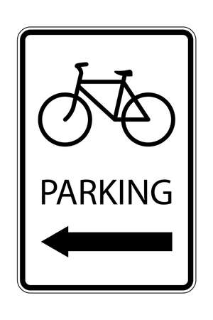 Bicycle parking sign. vector illustration