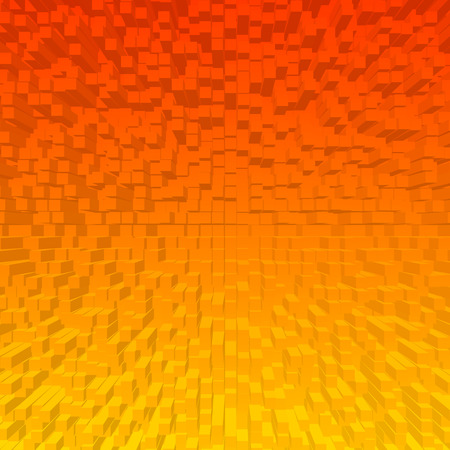abstract cubes: Bright abstract cubes orange background