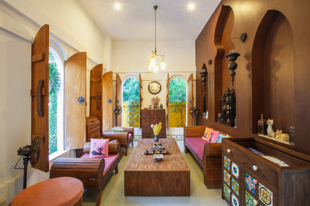 Interior design; beautiful living room with decoration.