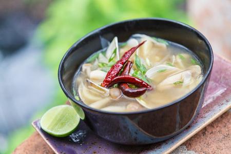 favorite soup: Vegetarian Thai Food mushroom tom yum soup.