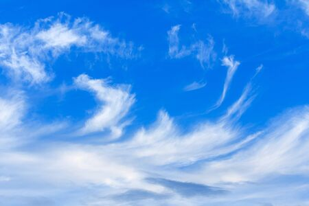 clouds in the blue sky. Stock Photo