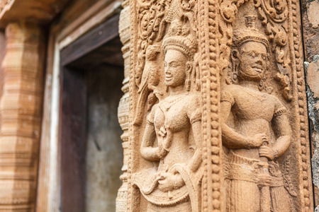 carved stone: Relief carved stone of ancient Buddhist cosmology, Thailand.