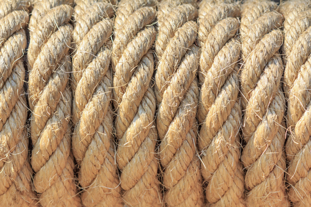 strip of raw old rope texture background 写真素材