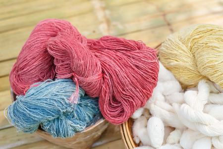 silk thread: Colorful raw silk thread. Hand made raw silk thread. Different Color of Silk Threads.