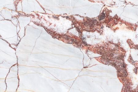 Marble patterned texture background. Marbles of thailand. abstract natural marble red and white for design. Stock Photo