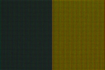 tft: Abstract led screen in gray yellow tone. Led lighting bulb pattern. RGB led diode display panel. Close up LED TV display. Close up of TFT monitor for background and design with copy space for text or image.