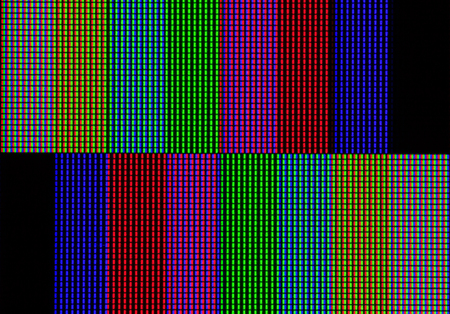 Abstract led screen. Led lighting bulb pattern. RGB led diode display panel. Close up LED TV display. Close up of TFT monitor for background and design with copy space for text or image.