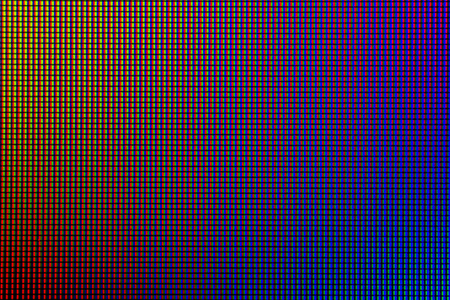 Led screen. Led lighting bulb pattern. RGB led diode display panel. Close up LED TV display. Close up of TFT monitor for background and design with copy space for text or image. Stock Photo
