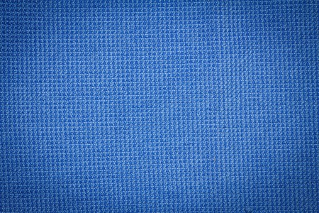 microfiber: Closeup blue microfiber cloth and blue microfiber texture from microfiber towel for background and design with copy space for text or image. Dark edged. Stock Photo