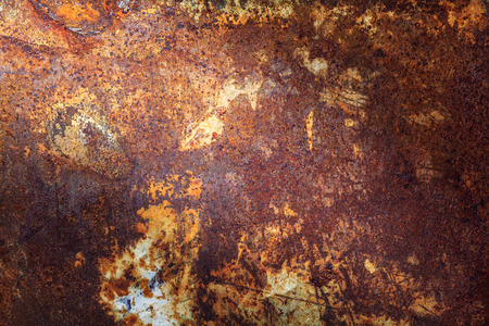rusty metal: Rusty metal texture or rusty metal background. Grunge retro vintage of rusty metal plate for design with copy space for text or image. Dark edged.