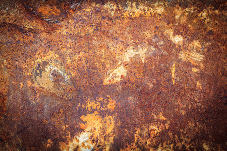 rusty metal texture: Rusty metal texture or rusty metal background. Grunge retro vintage of rusty metal plate for design with copy space for text or image. Dark edged.