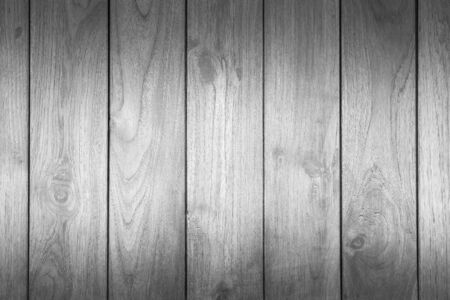 Wood texture pattern or wood background for interior or exterior design with copy space for text or image. Dark edged. Black and white.